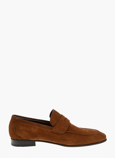 Divarese %100 Deri Loafer Ayakkabı Taba